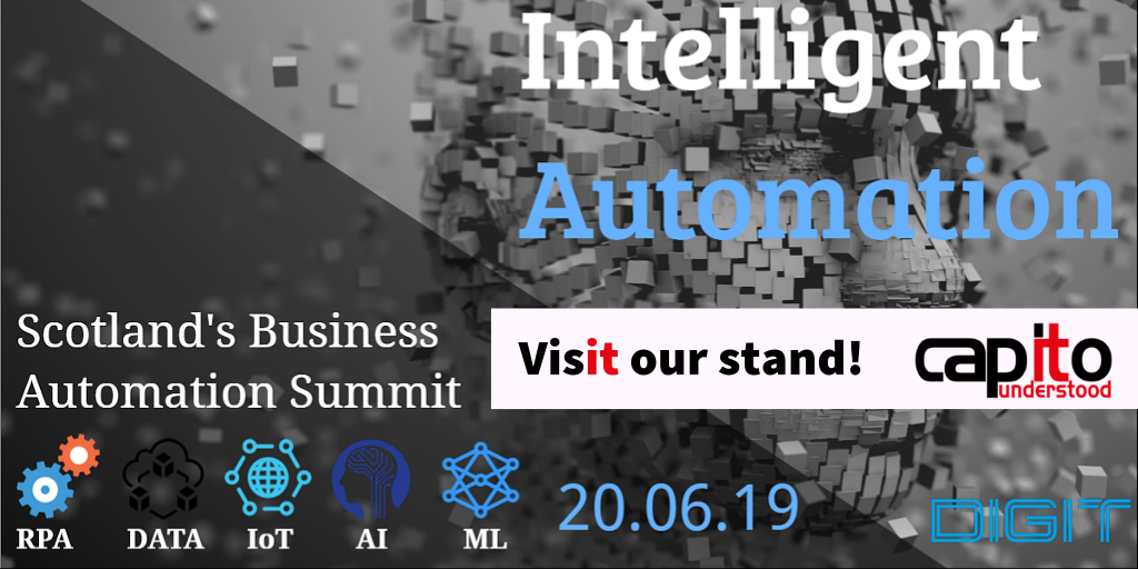 Visit Capito's stand at DIGIT Intelligent Automation 2019