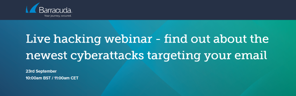Click here to register for Barracuda's Live Hacking webinar