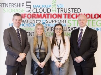 Finance Minister visits Capito - pictures with Alan Middleton, Caitlin Mowbray and Tiegan Brown