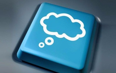 Contact us - keyboard key with cloud image