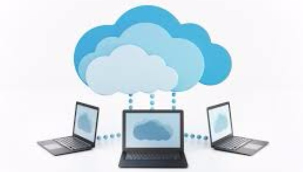 Laptops connected to cloud networks