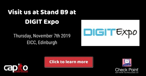 Capito at the DIGIT Expo 2019 at the EICC in Edinburgh