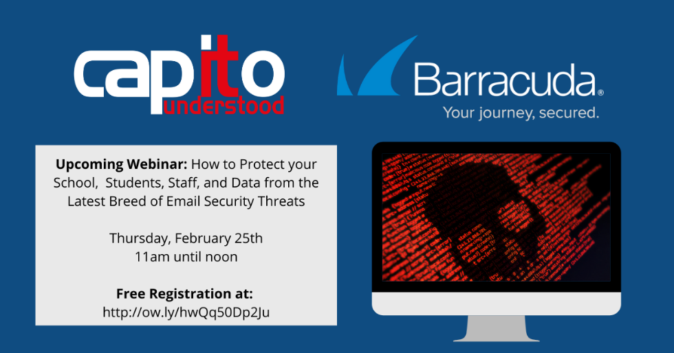 Register now for this webinar on email security for education