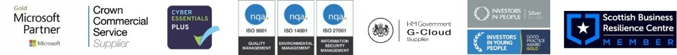 Investors In People (IIP) Silver, Investors in Young People (IIYP) Gold, ISO 9001 Quality Management, ISO 14001 Environmental Management and ISO 27001 Information Security Management